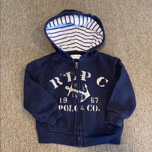 Full zip Polo hoodie